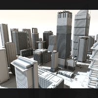 city buildings tower 3d model