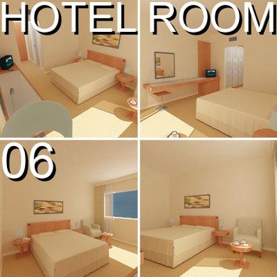 3d hotel guest room 06 model