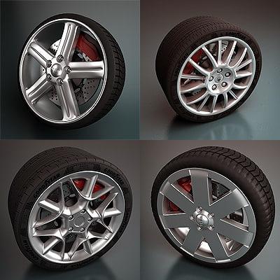 maserati wheel - 3d model