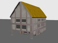 3d model house medieval buildings
