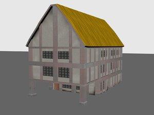 3d model house medieval buildings