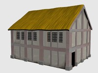 3d house medieval buildings