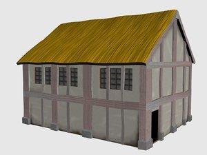 3d house medieval buildings