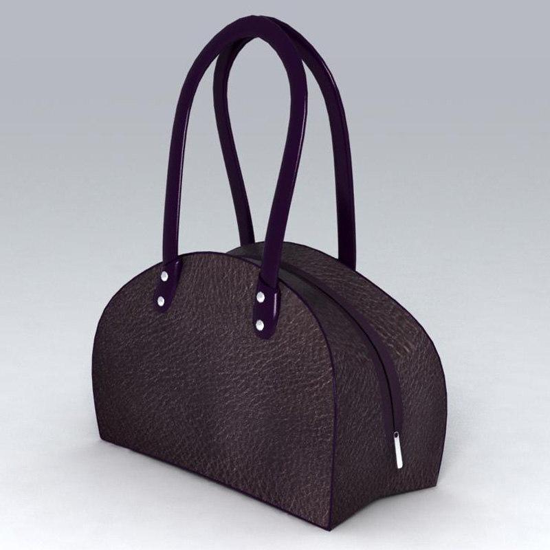 3d model purse leather