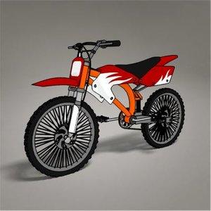 3ds bike rendered toon