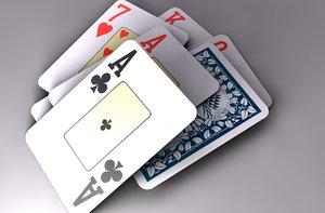 cards deck 3d model