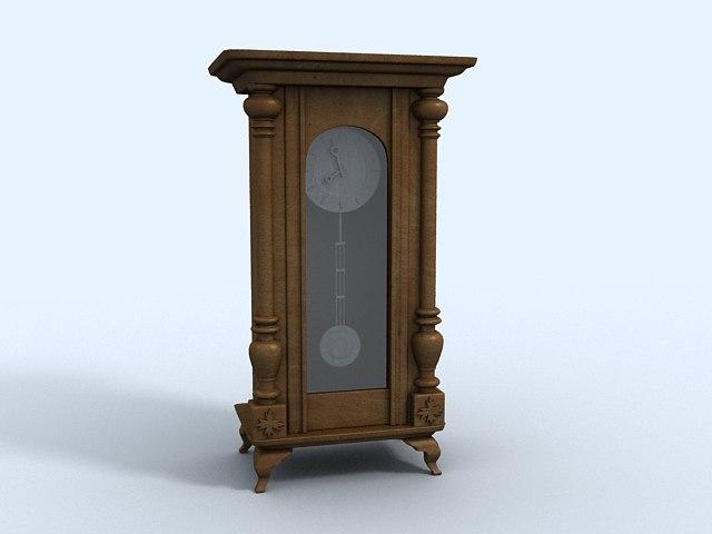 historical clock 3d max