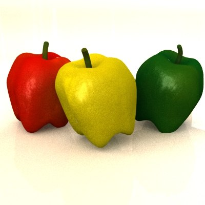 3d bell peppers