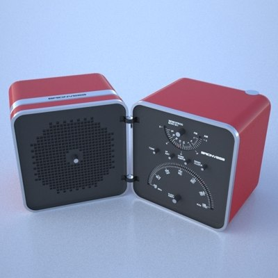 radio brionvega 3d model