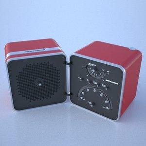 radio brionvega 3d model