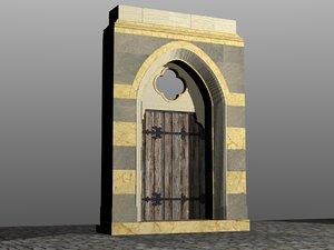 3d italian lombard portal model