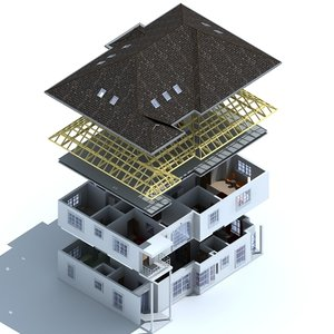 3dsmax house living rooms