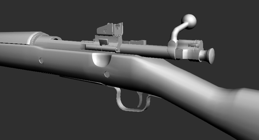 free max model american ww2 rifle gun
