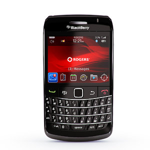 copy blackberry bold 9700 3d model