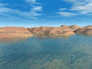 coastal terrain landscape 3d max