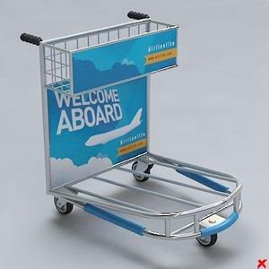 airport cart 3d model