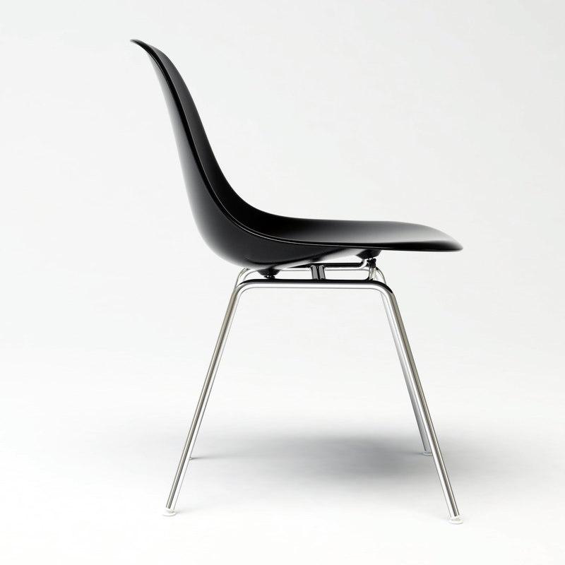 eames plastic chair 3d model
