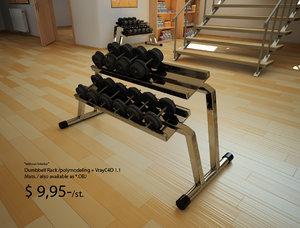 dumbbell rack 3d model