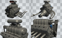 Car Engine (Hi-Poly)