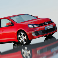 volkswagen golf gti 5-door 3d max
