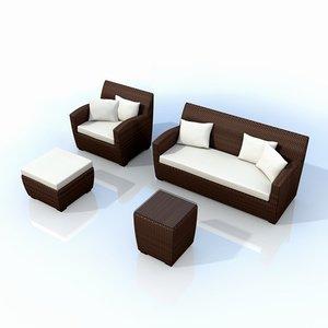 3d synthetic garden furniture