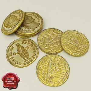 3d gold coins