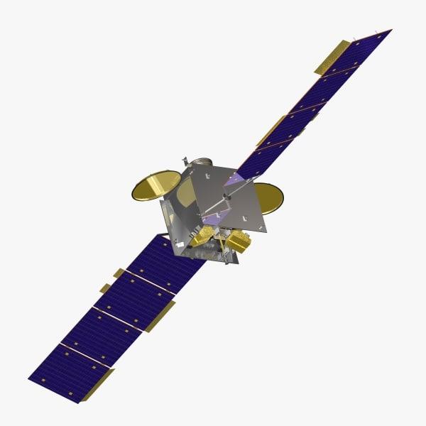 3d orbiting satellite reach