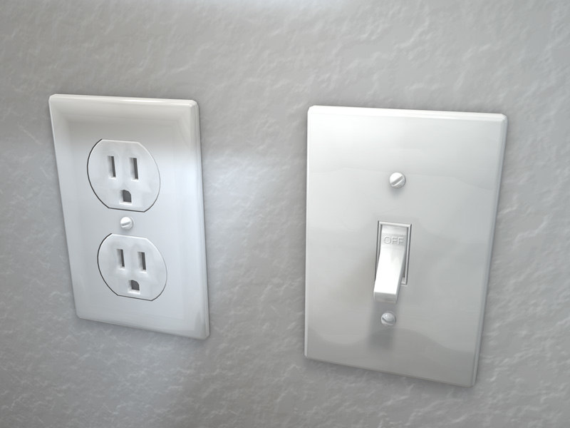 outlet light switch 3d model