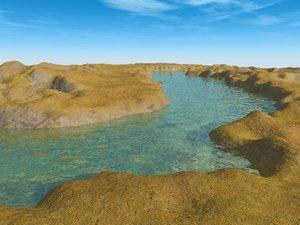 river valley terrain landscape 3d max
