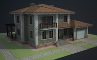 cottage house building 3d model