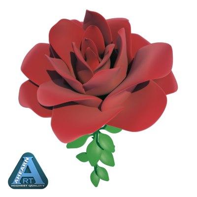 3d rose model
