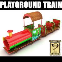 playground train 3d lwo