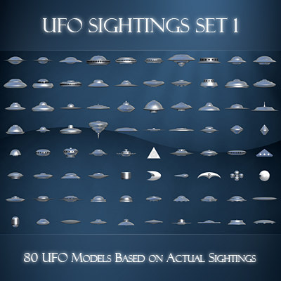 3d model ufo sightings 1