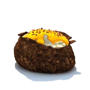 bacon cheese potato 3d model