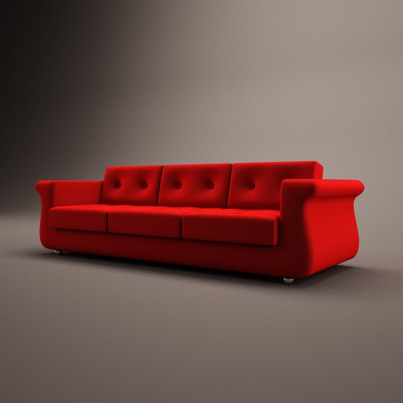 3 seat couch 3ds