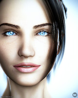realistic female head v3 max