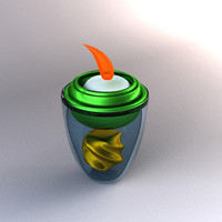3ds max candle decoration ready