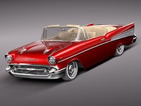 3d model of chevrolet bel air 1957