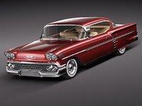 chevrolet impala 1958 58 3d max