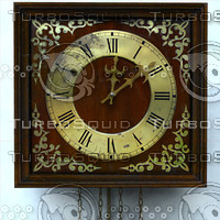 wall clock hanging 3d 3ds