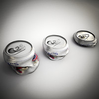 beer can crushed flat