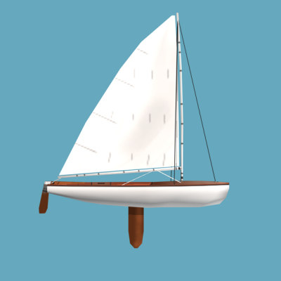 3ds sailboat dinghy