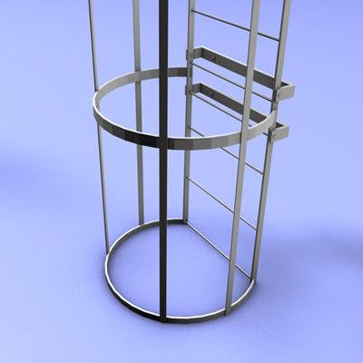 tubular stair 3d 3ds