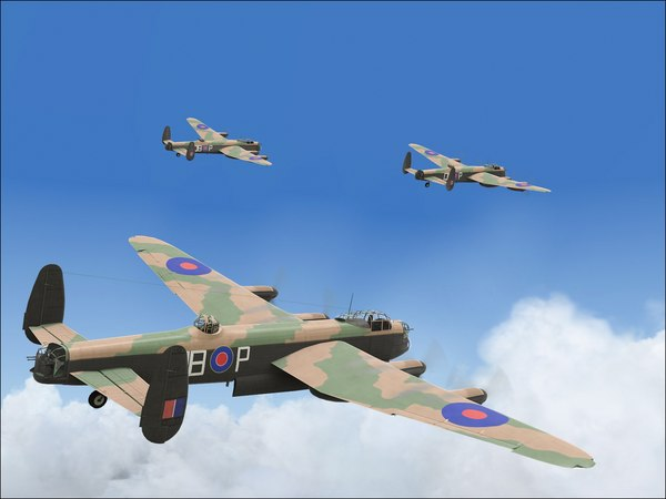 lancaster dambuster interior specialize 3d model