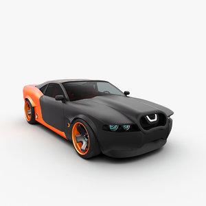 2 concept car maibatsu 3d 3ds