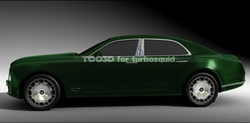 mulsanne bentley 3d model