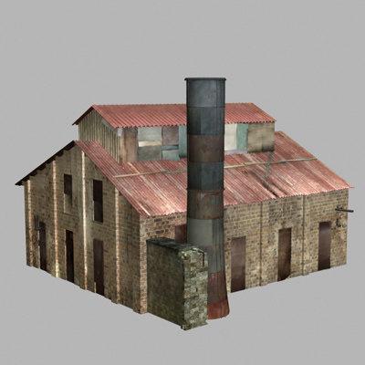 3d model old factory