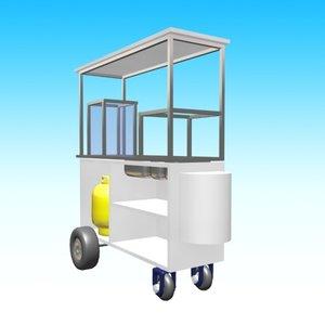 3ds max drag cart hotdog