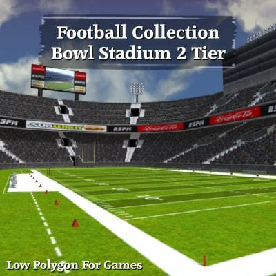 football bowl 2 tier 3d model