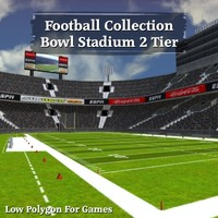 Football Collection Bowl Stadium 2 Tier